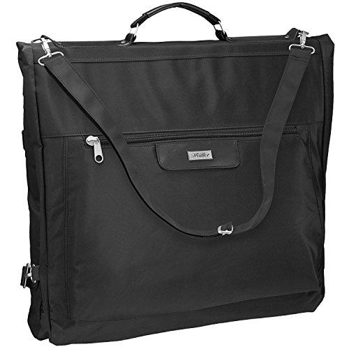 Cadenis Business Kleidersack mit Laser-Gravur aus strapazierfähiger Mikrofaser schwarz 115 cm - Platz für mehrere Anzüge auf Geschäftsreisen