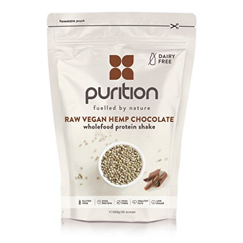 Wholefood Vegan Chocolate Protein Shake (500g) Ideal for weight loss & post exercise recovery - 100% natural meal replacement - Dairy free breakfast smoothie for men & women - Drink or mix into yogurt Test