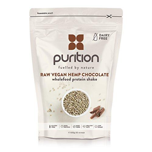 Batido de proteínas vegano de chocolate (500g). Ideal para perder peso & recuperación post-ejercicio – sustituto de comida 100% natural – Batido para el desayuno sin lácteos