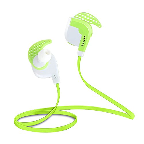 Bluetooth Headset Headphones VEVA V3 GreenWireless SPORT Sweatproof Earphones Noise Cancelling Sports Earbuds With APT X Mic For Gym