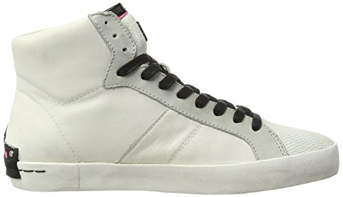 CRIME London Damen Jay Hohe Sneaker Weiß (Weiß)