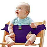 FidgetFidget Baby Dining Chair Safety Belt Portable Seat Lunch Chair Seat Stretch Wrap Feeding Chair Harness baby Booster Seat purple
