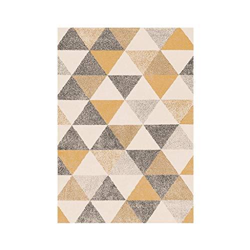 Teppiche JXLBB Kurzes Haar Wohnzimmer Tisch Schlafzimmer Balkon Einfache Dreieck Klassische Muster Polyester Leben geschmackvoller Dicke 6mm (größe : 1.4x2m)