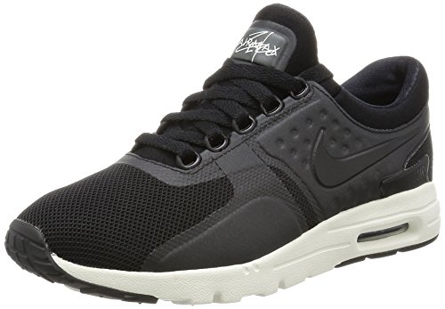 Nike W Air Max Zero, Chaussures de Running Entrainement Fille Noir (Black (noir / noir-voile))