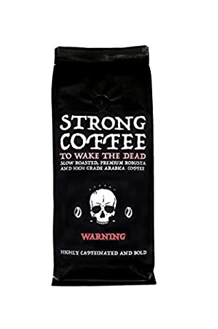 Strong Coffee, Bold and Highly Caffeinated, Ground, Fair Trade, Organic, 500g ★ NEW INTRODUCTION LOW PRICE ★ FREE FAST DELIVERY