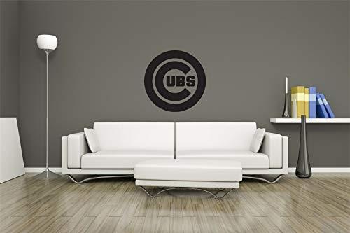 Wandtattoo MLB Logo Chicago Cubs Baseball Team Zeichen Wand Dekor Vinyl Aufkleber Aufkleber Wandkunst