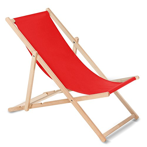 10c4d110510 Greenblue Tumbona (rojo) hecha de madera de haya, disponible en 12 colores,