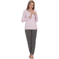 Italian Fashion IF Damen Schlafanzug Hydrangea 0223 (Rosa-2, M)