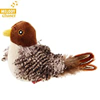 Vealind GiGwi Melody Chaser Pet Bird Interactive Cat Toy Plush Toys for Dogs and Cats (Bird)