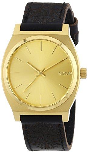 nixon-herren-armbanduhr-time-teller-gold-ornate-analog-quarz-leder-a0451882-00
