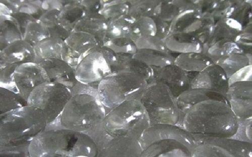 Glas Dekorative Edelsteine Klar (500g App 80–83Deko Glas Stein klar Pebbles 20mm)