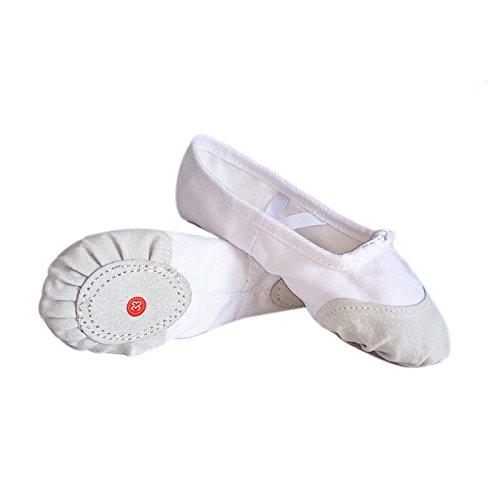 Wuyulunbi @ Tanzschuhe für Kinder- weichen Boden Dance Schuhe, 24 / 16 Cm, Boutique Weiß