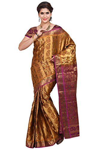 Mimosa Women's Traditional Art Silk Saree Kanjivaram Style With Blouse Color:Mustard(3348-79-DC-BL-MUS-RNI )  available at amazon for Rs.1399