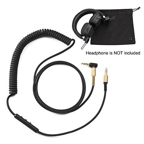 XCSOURCE 3.5mm Jack vers Jack Aux Audio Câble de Remplacement avec Microphone et Contrôle du Volume pour Casque Marshall Major II Monitor MID BT TH788