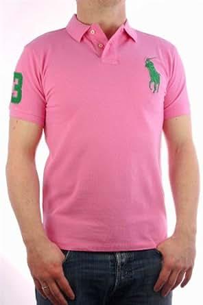 "Ralph Lauren - Polo by Ralph Lauren ""Big Pony Collection"" rose / vert - Homme - 3XL"