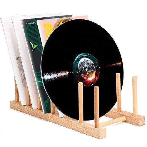 Support de rangement en vinyle respectueux de l'environnement en bois pour  CD, empilable moderne, pour bureau de bureau, magazines, iPad, étagère de