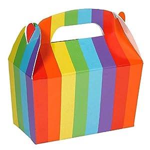 """Amscan International Caja de Regalo Color arcoíris 5 h x 2 3/8"""" w x 4 1/2"""" d (395128.9"""