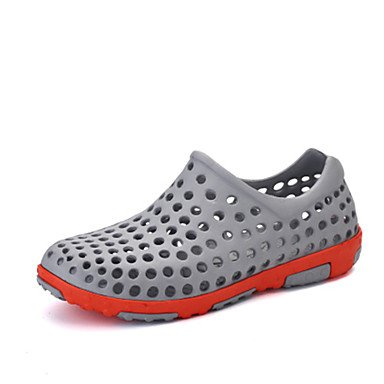 Hommes sandales Printemps Été Trou Chaussures Chaussures Casual Couple PU gris brun clair Bleu royal Light Brown