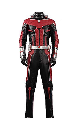 Cosplayfly Ant-Man und die Wasp Scott Lang Partyanzug Uniform Outfit Halloween Kostüm Herren Rot XS (Ant Man Kostüm)