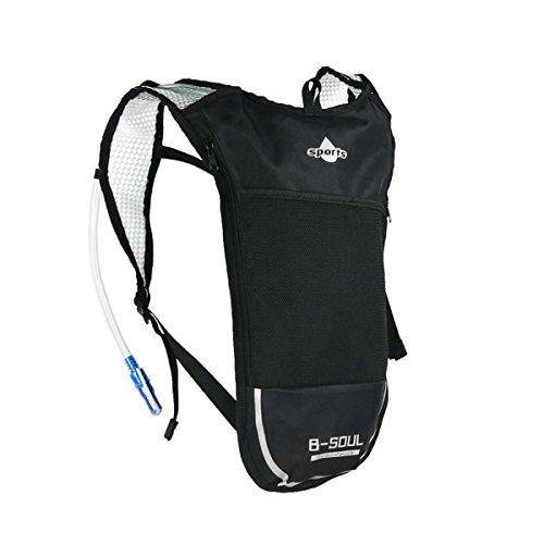 ruifu Trinkblase Tasche Rucksack System Pack Wasserbehälter für Radfahren Klettern Wandern Laufen Silber