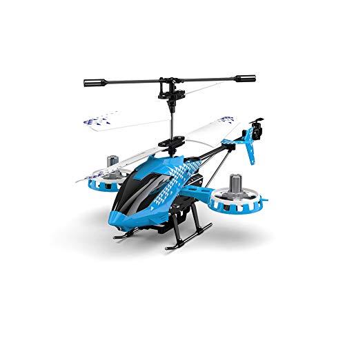 AHangcc Rc Hubschrauber 3.5 Kanäle Höhe halten Helikopter mit Gyro 2.4GHz und LED Licht für Innen- RTF Antikollision Mini Helikopter RC Spielzeug Geschenk für Kinder und Erwachsene,Blau