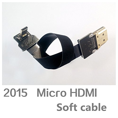 Generic 15 cm : the newest aerial FPV specialized Micro HDMI soft cable for DIY multi-rotor drones