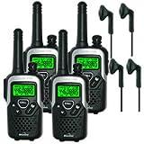 Binatone 10km Action 1100 Long Range Zwei-Wege-Funkgerät, Quad 4 x Comtech 10 Vx CT-Headsets