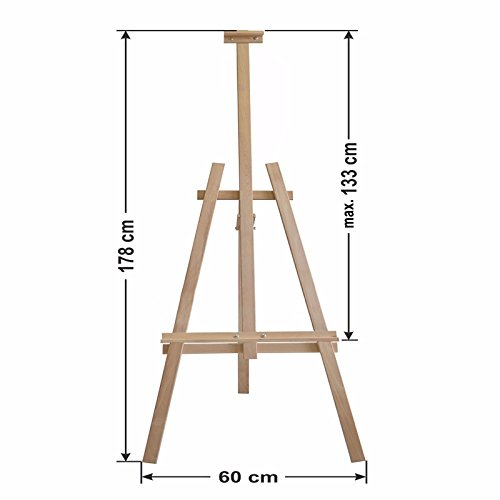 Amazinggirl Easel Wooden Stand Pine Wood for Painting Holder Sketching Table Display Exhibition 5.9 Ft