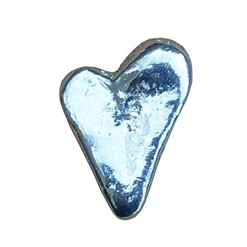 Glücksbringer - Ich Liebe Dich - Herz aus Zinn (Pewter) von Hand Gegossen