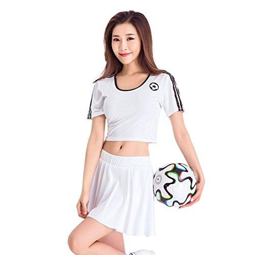 der Kleid Kostüm Varsity High School Cheer Mädchen Cheerleading Uniform Fußball Kostüm (Mädchen Fußball Kostüme)