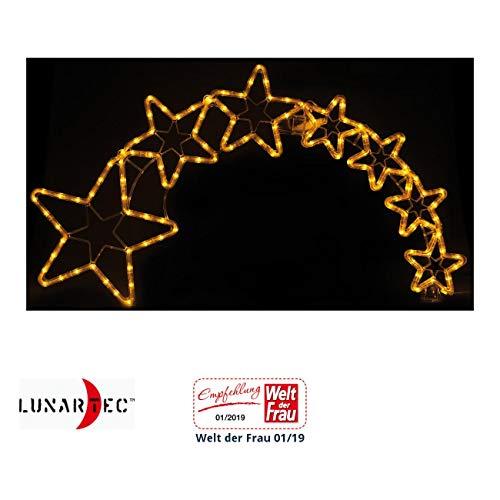Lunartec Stern mit Schweif: Weihnachtsdeko Kometenschweif mit 120 LEDs, IP44 (Weihnachtsstern mit Schweif)