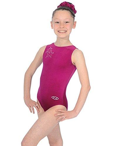 The Zone sleeveless, round neck Diva gymnastics leotard