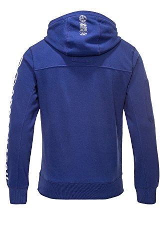 Crosshatch Herren Hoodie Kapuzenpullover Sweatshirt Blau