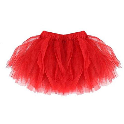 Tutu Kleid, Huihong Mama & mir hochwertige Falten Tutu Ballett Rock Party Rock Karneval Rock Mama Sirt + Tochter Rock (Fit für 0-24 Monate Baby) (Rot, Baby Rock) (Anzug Falten Rock)