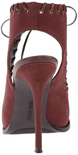 Nove in pelle occidentale Hotstuff tacco del sandalo Dark Brown/Dark Brown