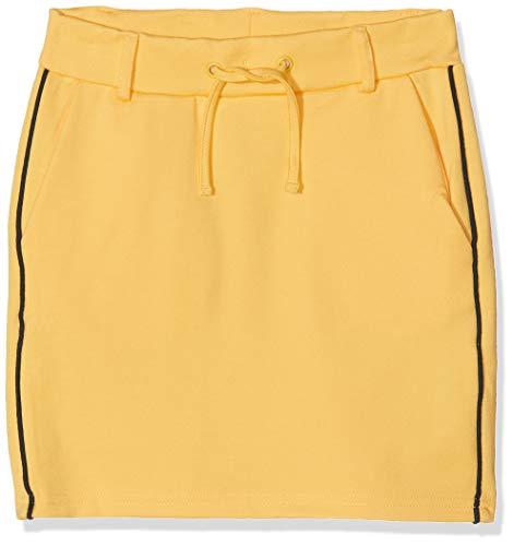 Falda amarilla deportiva para Niñas. Algodón con rayas en negro.