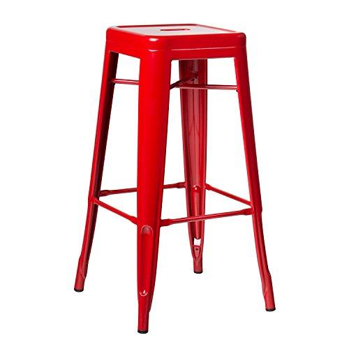 SKLUM Taburete Alto LIX Rojo - (Elige Color)