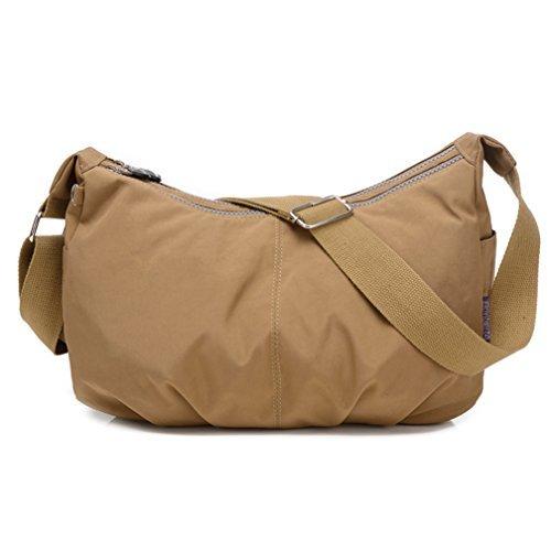 TianHengYi ,  Damen Umhängetaschen , - Khaki - Größe: Medium (Womens Handtaschen Junior)