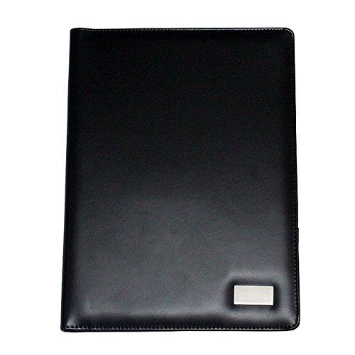 boshiho® Vorstellungsgespräch Executive Portfolio Padfolio Organizer Leder Dokumenten mit Taschenrechner Notizblock und Stifthalter (A4) (Taschenrechner Business Card Holder)