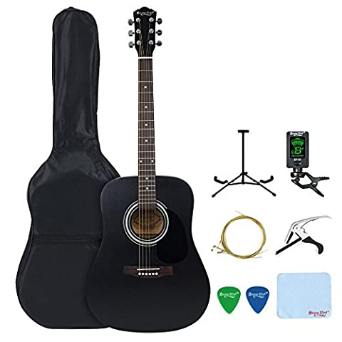 41-inch Acoustic Guitar, Strong Wind Full Size Dreadnought Steel String