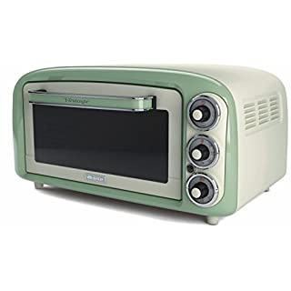 Ariete UK 979 G Vintage Retro Electric Oven, 1380 W, Green