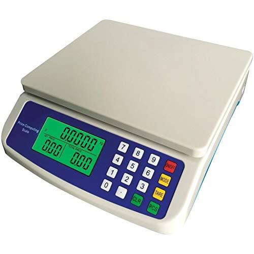 ZCXBHD Balanzas Digitales de Cocina de 30 kg / 1 g, balanzas Digitales LCD de precisión Computación...