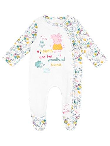 Peppa Pig - Pijama Entera para Niñas Bebés - Peppa Pig - 6 a 9 Meses