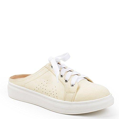 Ideal Shoes, Damen Sneaker Gelb