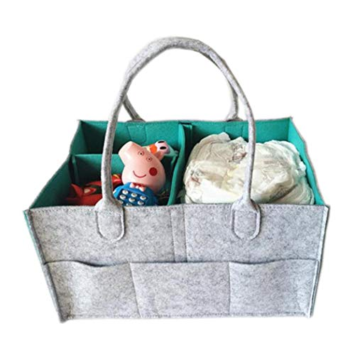 Baby T/ücher faltbare tragbare Kinderzimmer Aufbewahrungsbox Organizer Bin Filz Korb Einkaufstasche mit Griff f/ür Windeln Home Organisation Wickeltisch Baby Windel Caddy