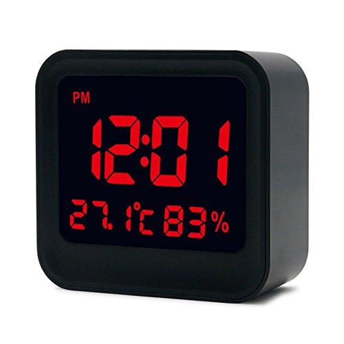 Shuangklei Lcd Digital Hohe Genauigkeit Thermometer Hygrometer Wecker Mit Lcd-Anzeige Alarm Auto Helligkeit Einstellen - Flache Lcd-thermometer