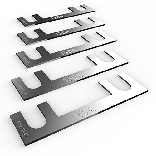 Auprotec® fusibile a nastro 30A - 150A fusibili stripe selezione: 150A Ampere, 5 pezzi - Fusibile Nastro