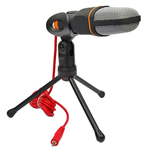 Hanbaili Professionelle Kondensator-Mikrofon Mic mit Ständer Windschutzscheibe Sponge Sleeve für PC Laptop Skype Recording