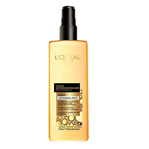 L'Oréal Paris Sublime Glow Olio detergente viso e occhi non Grasse - Set di 2