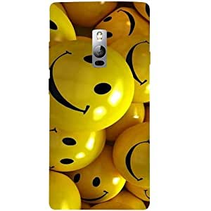 Casotec Smiles Smile Yellow Design 3D Hard Back Case Cover for Oneplus 2